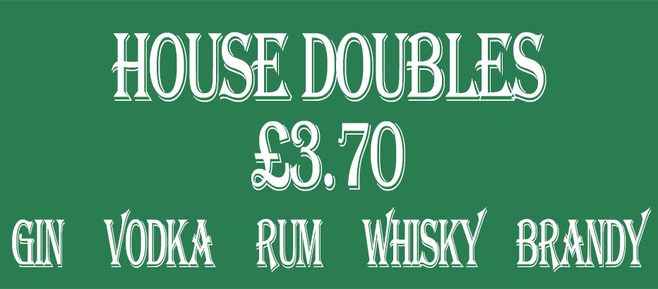 House Doubles £3.70